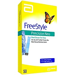 Freestyle Precision Neo Blood Glucose Test Strips, 50 Strips