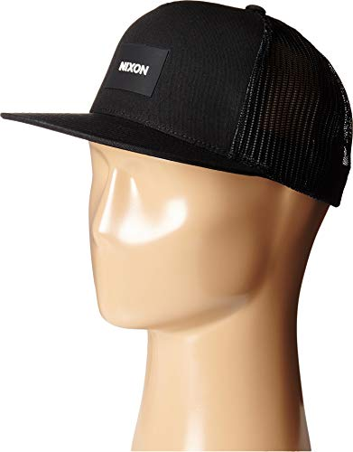 NIXON Unisex Team Trucker Hat Black One Size - Nixon Black Hat