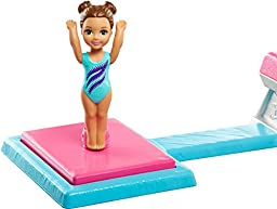 Barbie and Toddler Student Flippin Fun Gymnastics Dolls
