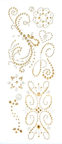 Pearl Swirl Wedding Invitations - K&Company Adhesive Gem Stickers, Champagne Swirl