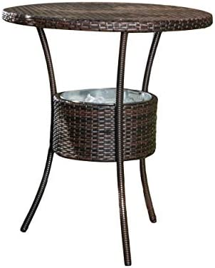 Christopher Knight Home Oyster Bay PE Table with Ice Pail, Multibrown