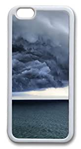 iphone 6 4.7inch Case iphone 6 4.7inch CasesStorm clouds TPU Rubber Soft Case Back Cover for iphone 6 4.7inch White