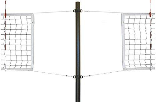 最初チームStellar express-sbsアルミRecreationalアルミバレーボールシステムwith sockets44 ;スカーレット B01HC0ERSQ