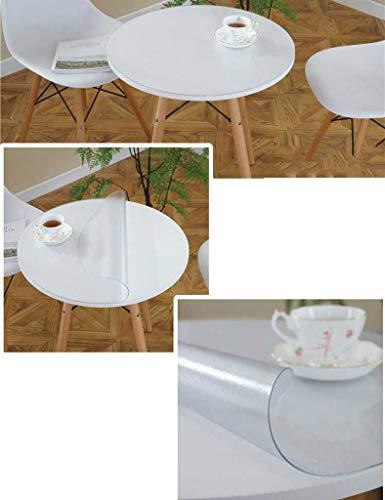 Ronde-70cm épaisseur-2.0mm SED Tapis de Table de Restaurant de ménage, Nappe de Table à café Nappes Rondes givrées à la Maison Nappe imperméable à l'huile Imperméable à l'eau Facile à N
