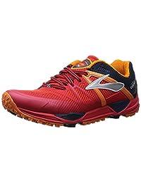 Brooks Cascadia 10 Trail Running Shoe - Men's High Risk Red/Satsuma/Black Iris, 8.0