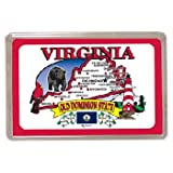 Virginia Playing Cards State Map 24 Display Unit [96 Pieces] - Product Description - Virginia Playing Cards State Map 24 Display Unit. Standard Size Playing Cards. 4.5 X 2.25 X .75 ...