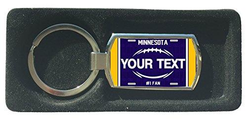BRGIftShip Customize Your Own Football Team Minnesota Metal Keychain ()