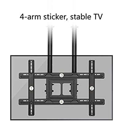 DSHBB TV Bracket, Ceiling Mount TV Ceiling Bracket,for 37-80 Inch LED LCD Plasma Flat Screen Televisions
