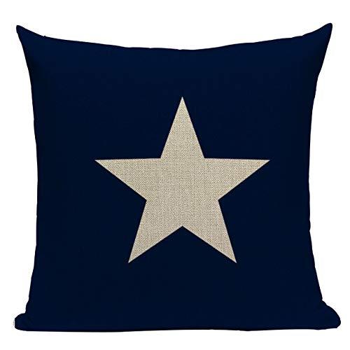 J.T.Hatched - Funda de cojín de Color Azul Marino con diseño ...