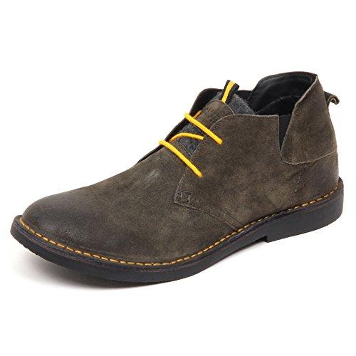 Gaudi E5314 Waxed Shoe Green Polacchino Scarpe Wool Verde Suede Boot Uomo Man rrwpdqT