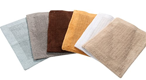 "TrendSetter Homez MEGA Sales Dakar Stripe Extra Large Elite Single Bath Rug 100% Cotton Hand Tufted Heavy Bathmat Size… - EXTRA LARGE 100% Cotton - Reversible Bath rug - Oversized rug 24x60"" (Sand) COZY & PLUSH - Feel Luxurious on your feet as its very heavy 2600 GSM - GUARANTEED TO BE THE HEAVIEST ! Beautifully crafted with loops & CANTERBURY Design. Exuberates an exquisite European flair - bathroom-linens, bathroom, bath-mats - 41tk0k Dp9L -"