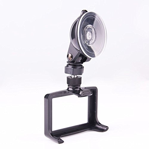 Dashcam Frame with Suction Cup Mount for Git1 / Git2 / GoPro Hero 3+ / 4 Camera