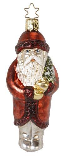 Glas Santa (Inge Glas Santa Vintage Nik 1-082-14 German Blown Glass Christmas Ornament)