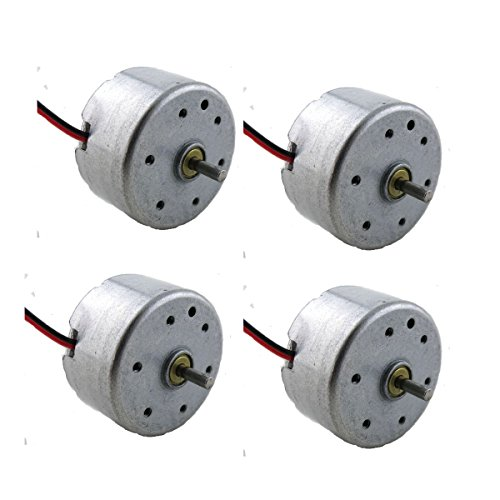 flormoon-dc-motor-mini-electric-motor-3v-8500rpm-for-diy-toys-4-packsilver-black