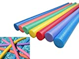 Swim Noodles, Pool Floating Durable Aid Thick Foam Tube Swimming Sticks for Swim Training Aids,Sport Lessons, Floats Aerobic Therapy Exercise,Kids & Adults Swimming Equipment