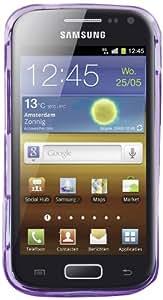 Phonix S8160GPV - Carcasa y película de protección para Samsung i8160 Galaxy Ace 2, violeta