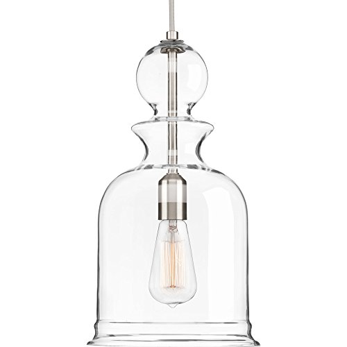 Progress Lighting P5333-09 Staunton One-Light Pendant, Brushed Nickel
