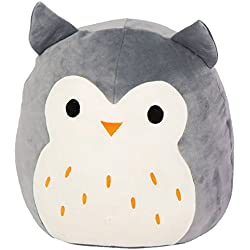 "Squishmallow Kellytoy 13"" Hoot The Gray Owl Super Soft Plush Toy Pillow Pet Animal Pillow Pal Buddy"