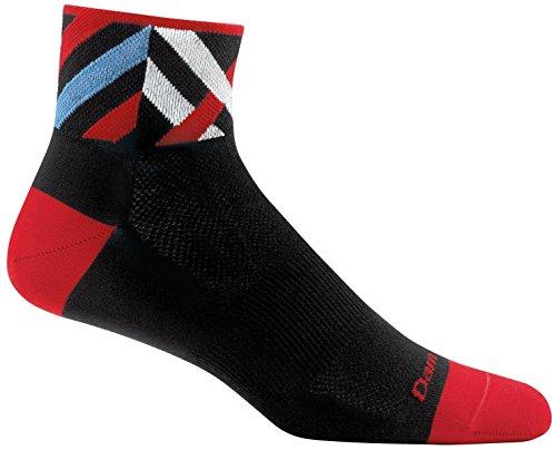 Darn Tough Graphic 1/4 Ultralight Sock - Men's Black Medium