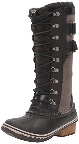 Sorel Women's Conquest Carly II Snow Boot, Black, Kettle, 5.5 B US by SOREL