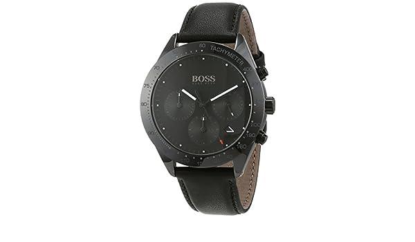 6e0a6a31a Hugo Boss Talent Chronograph Black Dial Date Display Black Leather 1513590:  Amazon.com.au: Fashion