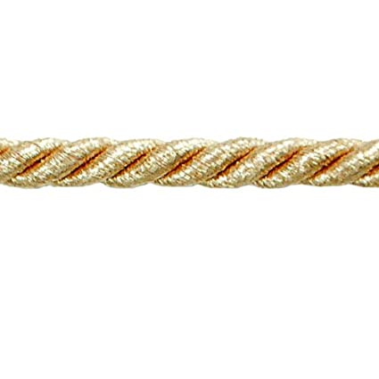 Metallic Gold 20-Yard Expo International Noel 1//4-Inch Twisted Cord Trim