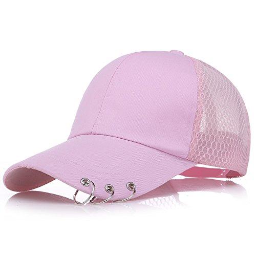 a4c25c86b65a8 Xuzirui BTS Baseball Cap K-Pop Bangtan Boys Outdoor Iron Ring Hat Casual  Adjustable Dad Hat Hip Hop Hat (Pink2)