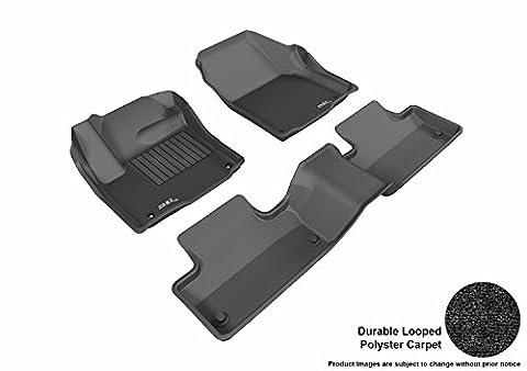 3D MAXpider All 2 Row Custom Fit Floor Mat for Select Land Rover Range Rover Evoque Models - Classic Carpet - Range Rover Foot