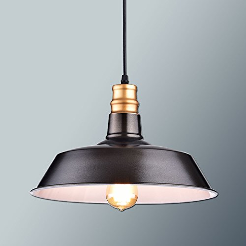Industrial Mini Pendant Light: Ecopower Industrial Barn Mini Metal Pendant Light 1 Light