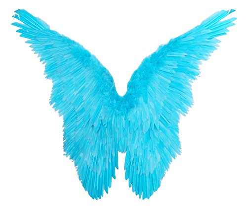 FashionWings Unisex-Adult's Angel of Fantasy Blue Butterfly Style Costume Feather Wings, Aqua, XL Wingspan for $<!--$54.99-->