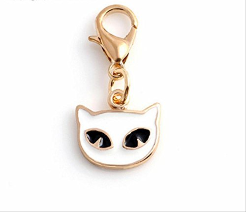 Gold Smarty CAT 6 Pack Jewelry Charms with Lobster ()