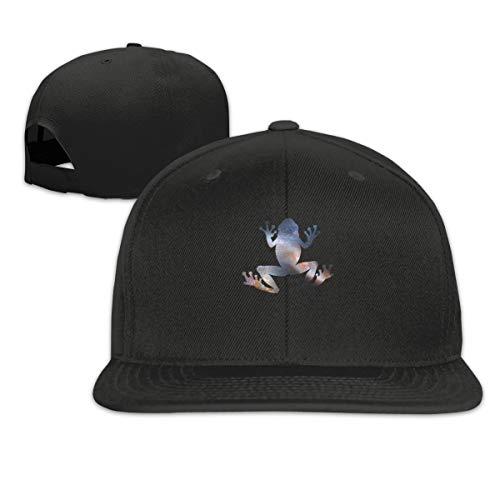 Starry Sky Frog Trucker Hats Adjustable Mens Solid Flat Bill Baseball Cap Black
