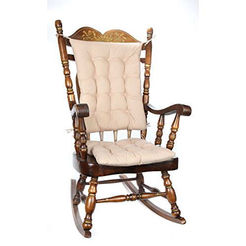 Trenton Gifts 2 Piece Padded Rocking Chair Cushion Set - Beige