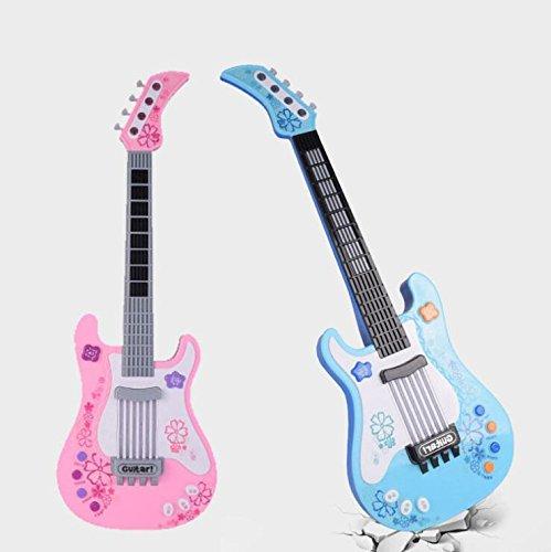 Upstudio Multifunktionale Kinder Simulation Kürbis Herz Vier Saiten Bass-Gitarre Instrument (Pink)