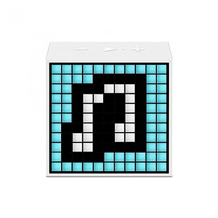 Minuterie Divoom Mini White 5 W avec réveil à haut-parleur Bluetooth et écran à LED blanc