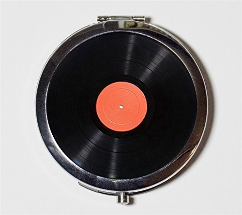 Record Album Compact Mirror LP Vinyl Turntable Gift for DJ Pocket Size for Makeup Cosmetics