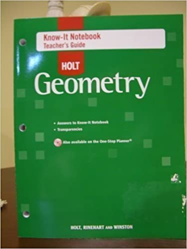 Know-It Notebook - Teacher's Guide for Holt Geometry
