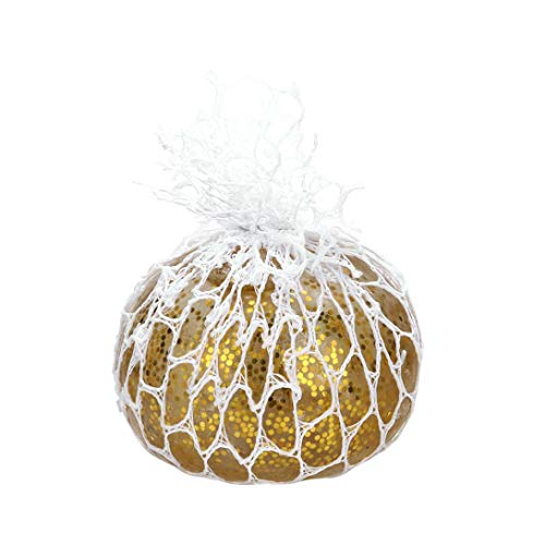Kanzd Star Mesh Ball Stress Glowing Squeeze Grape Toy Anxiety Relief Stress Ball Toy (Gold) ()