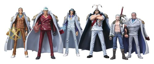 One Piece: Marine Never in the Name of Justice Trading Figure Box of 8 Pieces
