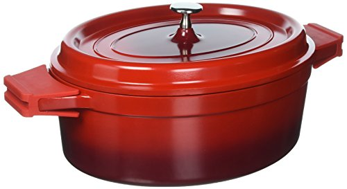 Culinary Edge 26007 7 Quart Red Cast Aluminum Dutch Oven