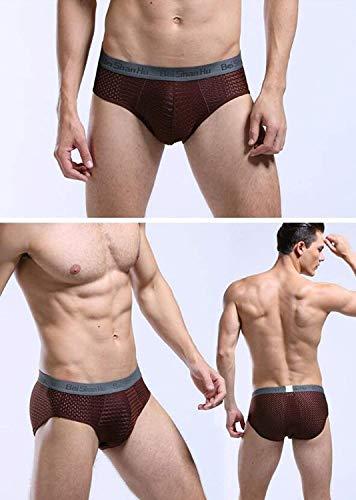 De Calentamiento Los Calzoncillos Bragas Battercake Bambú Malla Onecolor Transpirable Fibra Hombres Transpirables Cómodo Panty 5xRq0BwnF
