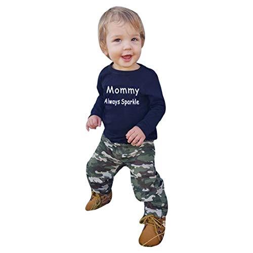26c2de7620822 Galleon - 2018 Fashion 2Pcs Toddler Kids Baby Girl Boy Clothes Set ...