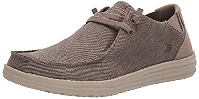 Skechers Mens 66387 Melson-Raymon Canvas Slip on Brown Size: 7