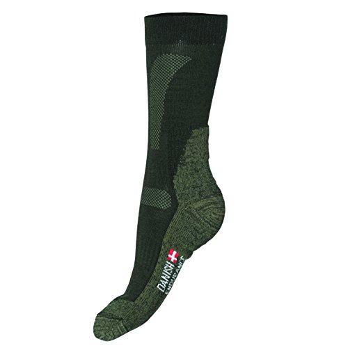 DANISH ENDURANCE Merinowolle Allwetter Leistung Socken // (Grün - FOREST GREEN, EU 39-42 // UK 7-9)