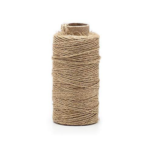 - Jute Rope - Natural Jute Twine String Thin Rope for Gift Box Packing, Decorating, Gardening