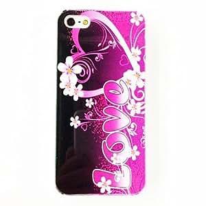 GONGXI-Patrón de la flor del amor del estuche rígido de policarbonato para el iPhone 5/5S , Multicolor