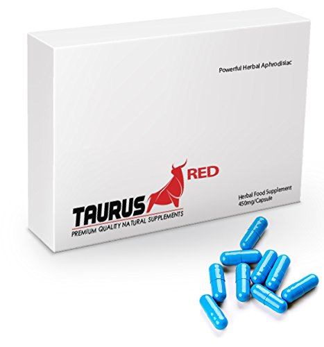 Taurus Red – (10 Capsule Pack) New & Effective 450mg Ginseng Complex Herbal Supplement for Men – Supplement for Performance, Energy, Stamina & Endurance, 100% Natural★100% Money Back Guarantee