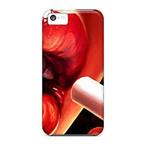 VCn20550wqmZ Douglasjoy2014 Awesome Cases Covers Compatible With Iphone 5c - Red Lips Black Friday
