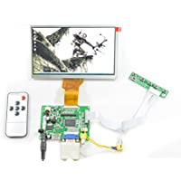 NJYTouch Raspberry Pi AT070TN92 LCD Display Screen TFT Monitor with PCB800099 HDMI VGA AV Controller Board