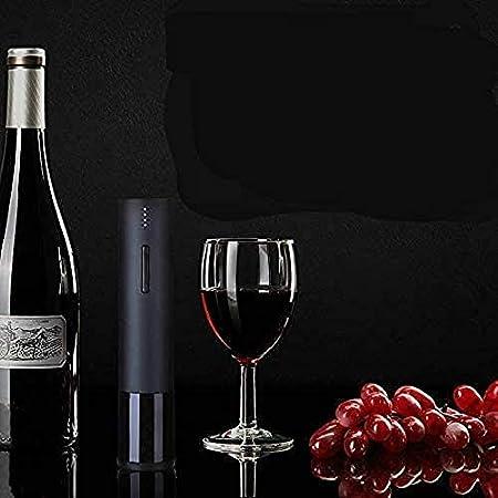 Sacacorchos eléctrico de vino, sacacorchos automático recargable, sacacorchos eléctrico inalámbrico con cortador de papel, tapón de vacío, vertedor de vino